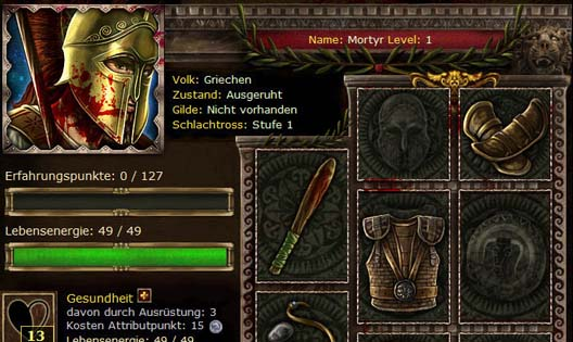 Das Browsergame der Antike - Screenshot 1